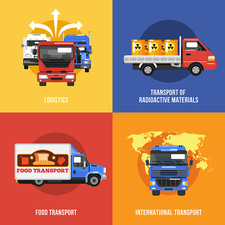 Heavy goods vehicles, illustration