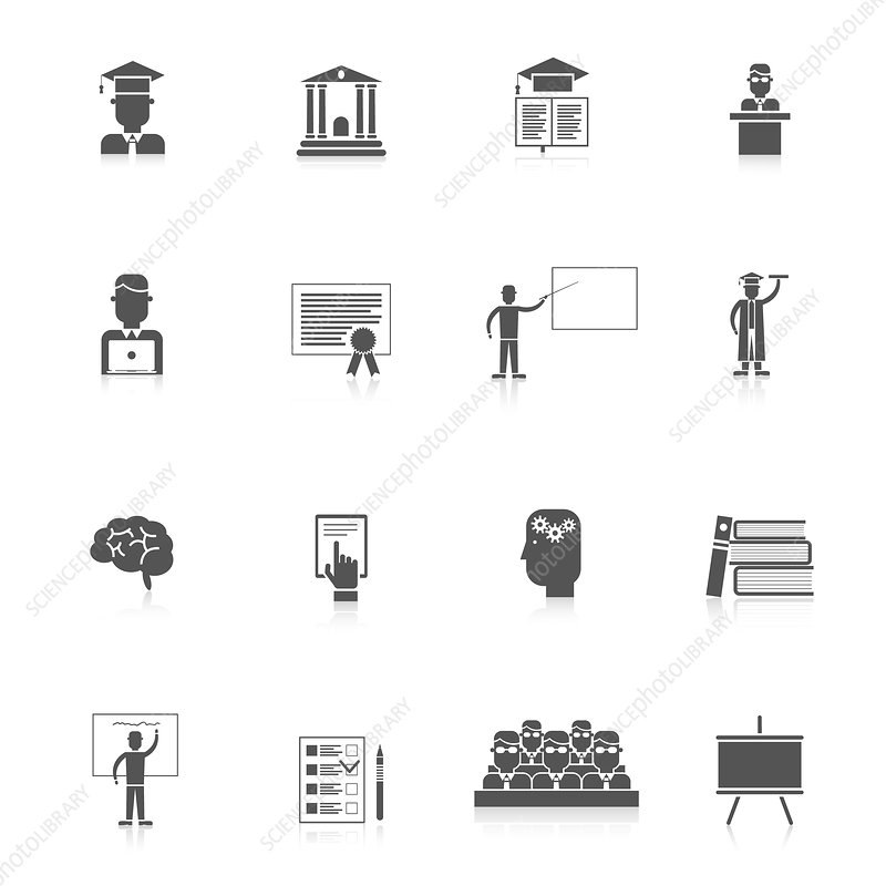 University icons, illustration
