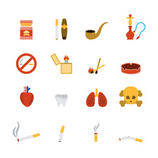 Smoking icons, illustration