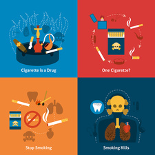 Smoking cessation, illustration
