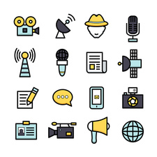 Journalism icons, illustration