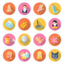 Allergy icons, illustration