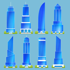 Skyscrapers, illustration