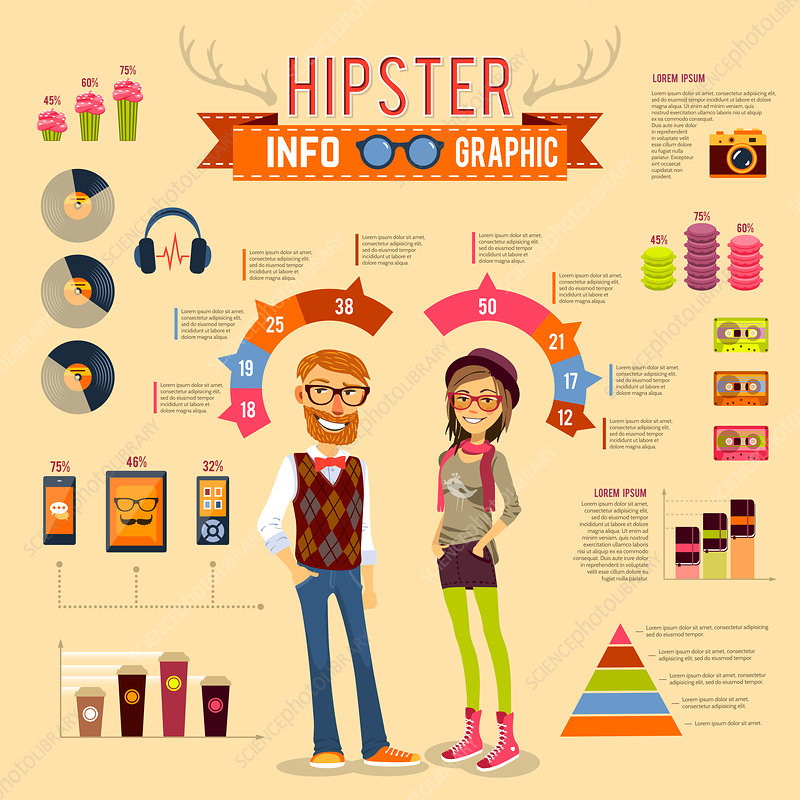 Hipsters, illustration
