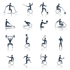 Disability sport icons, illustration