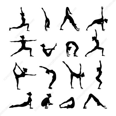 Yoga icons, illustration