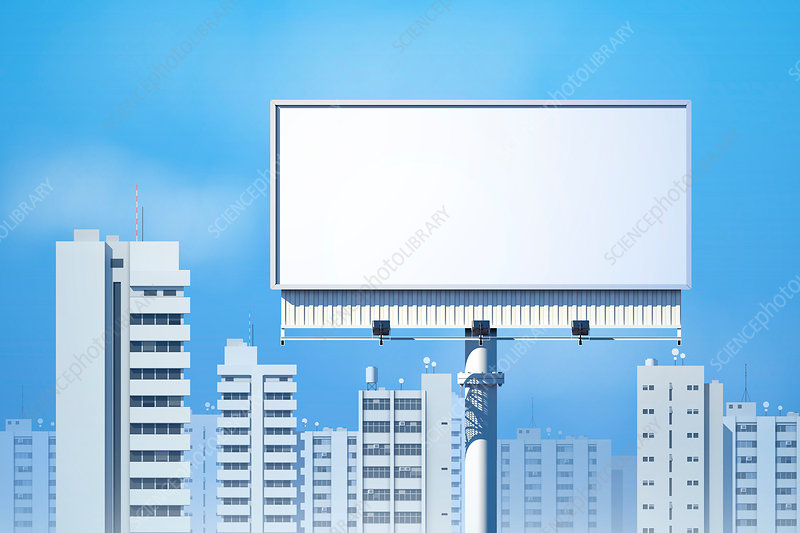 Blank billboard sign, illustration