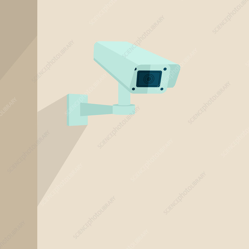 Security camera, illustration