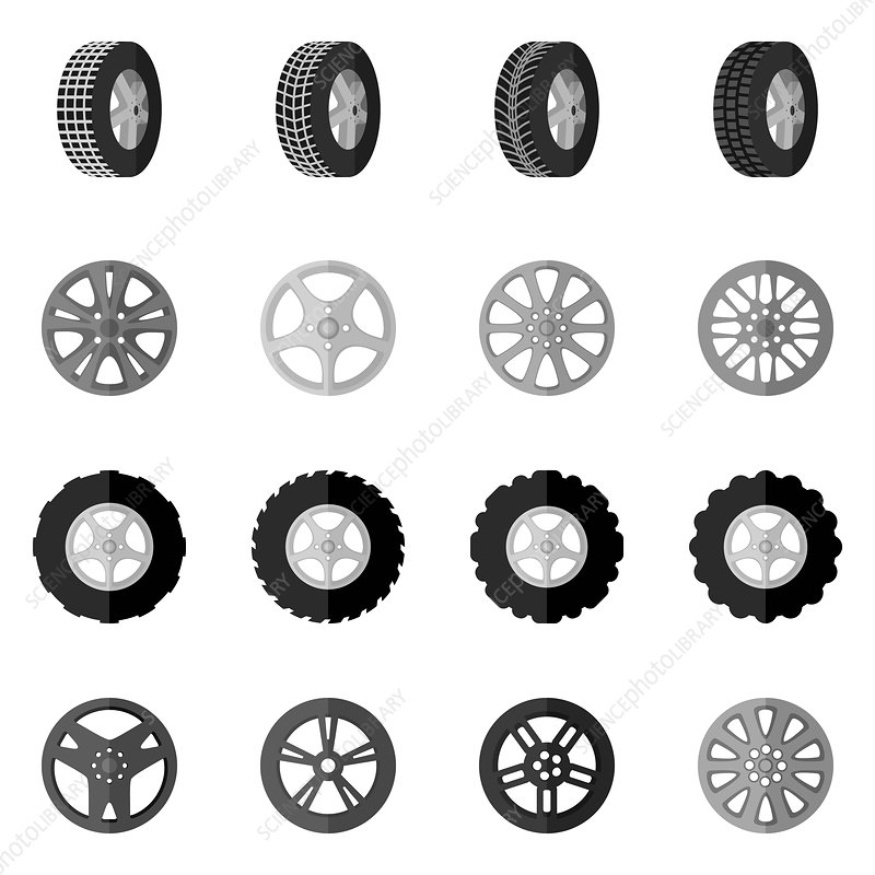 Tyre icons, illustration