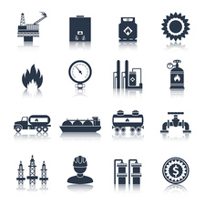 Gas industry icons, illustration