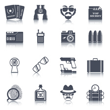 Spy icons, illustration