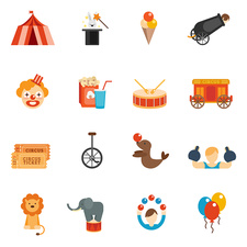 Circus icons, illustration