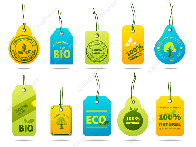 Ecological labels, illustration