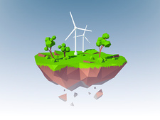Wind turbines, illustration