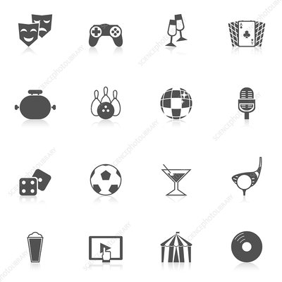 Entertainment icons, illustration