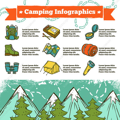 Camping, illustration
