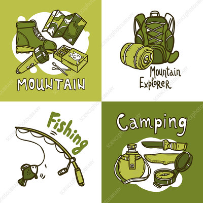 Outdoor pursuits, illustration
