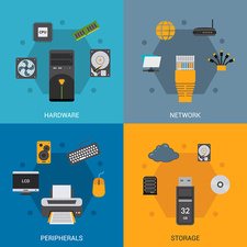 Computer parts and accessories, illustration