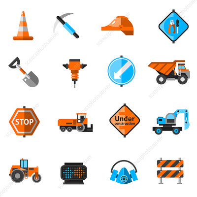 Roadwork icons, illustration