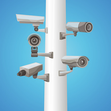 Video surveillance, illustration