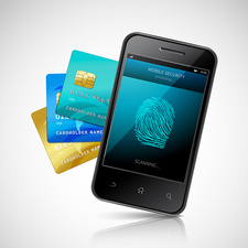 Biometric mobile payment, illustration