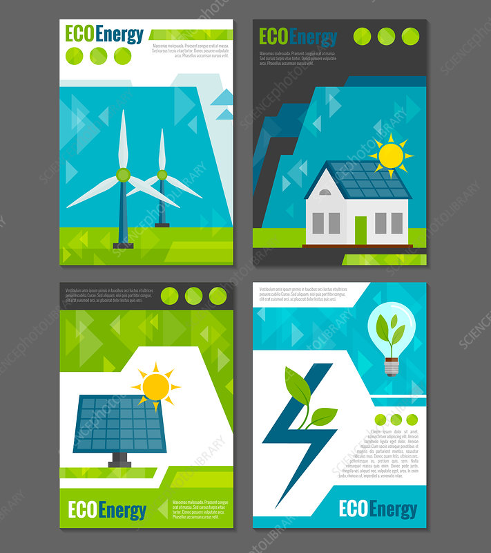 Green energy, illustration
