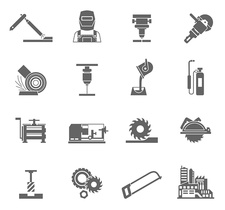 Metal-working icons, illustration