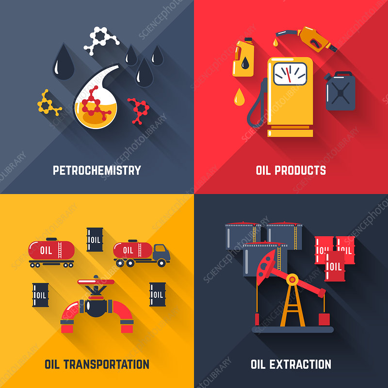 Oil industry, illustration