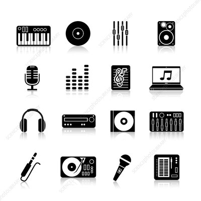 Music icons, illustration