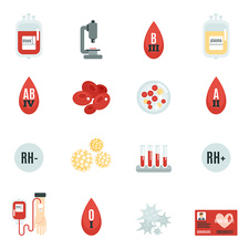Blood donation icons, illustration