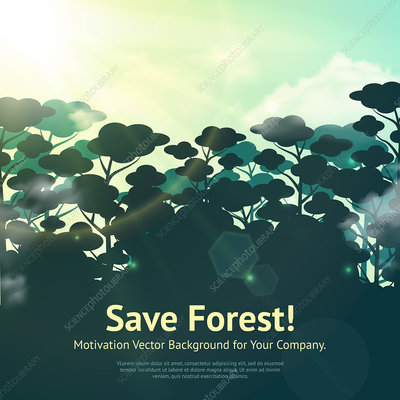 Save the forest, illustration