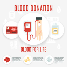 Blood donation, illustration