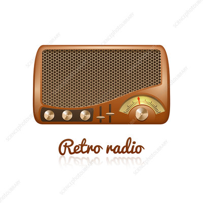 Retro radio, illustration