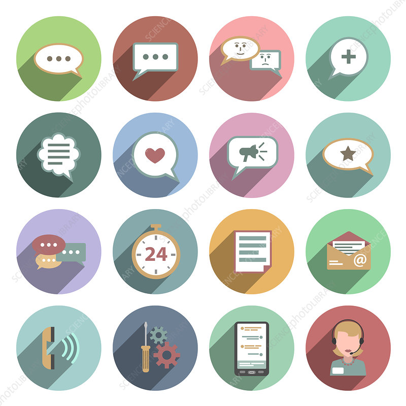 Chat icons, illustration