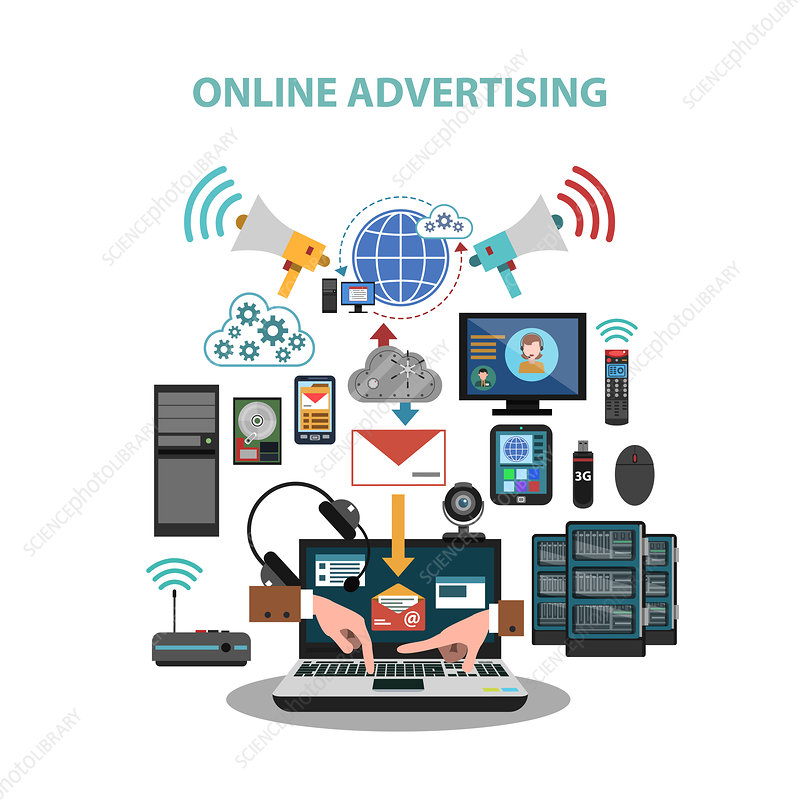 Online advertising, illustration