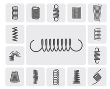 Coil and spring icons, illustration