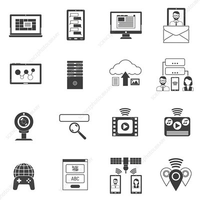 Technical support icons, illustration