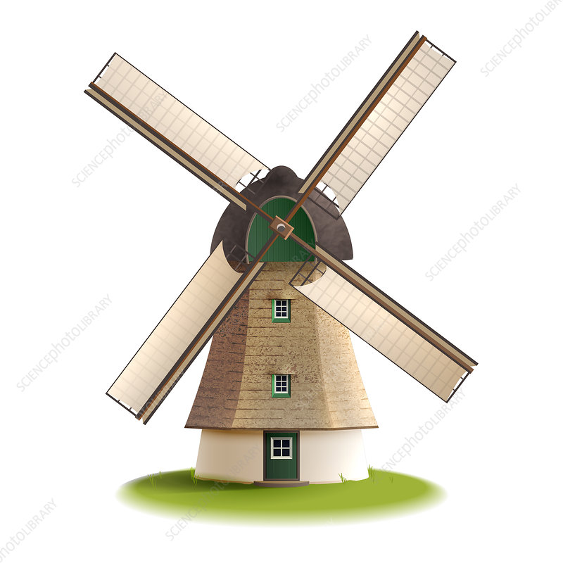 Windmill, illustration