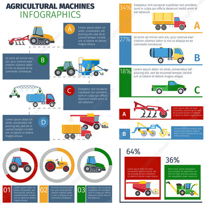 Agricultural machines, illustration