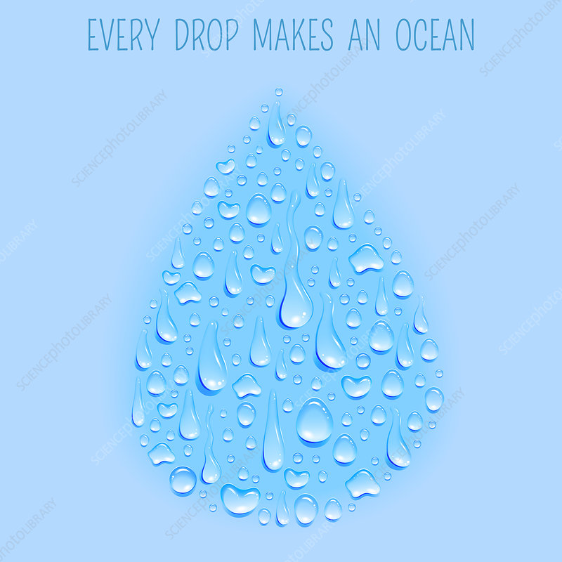 Water drop, illustration