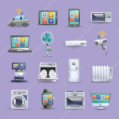 Internet of things icons, illustration