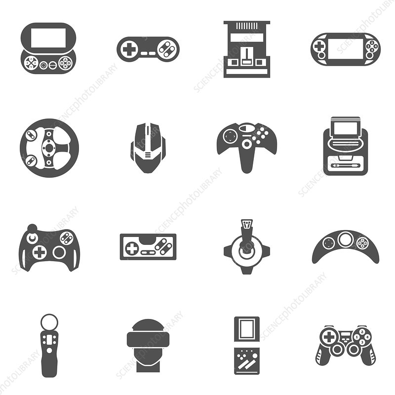 Gaming icons, illustration