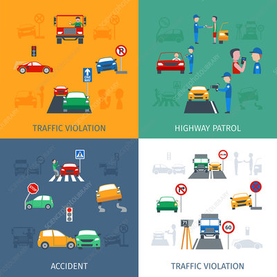 Traffic violations, illustration