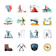 Outdoor pursuit icons, illustration