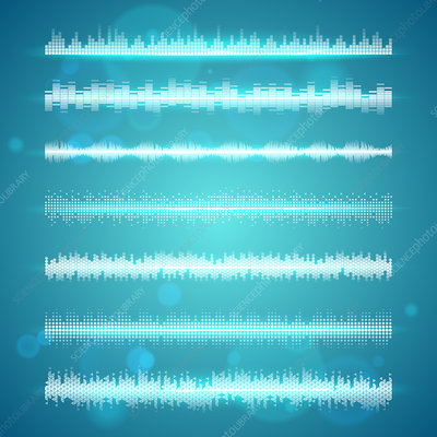 Sound waves, illustration