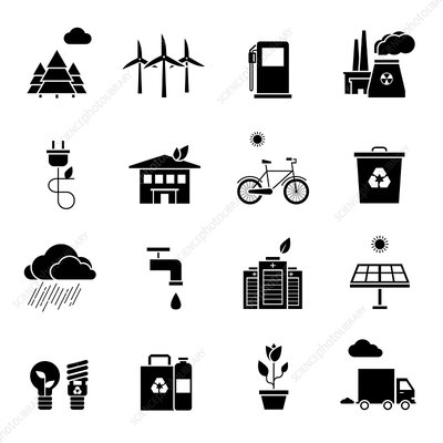 Environmental icons, illustration