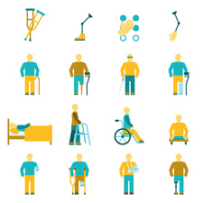 Disability icons, illustration