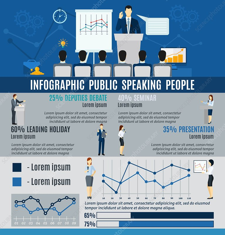 Public speaking, illustration