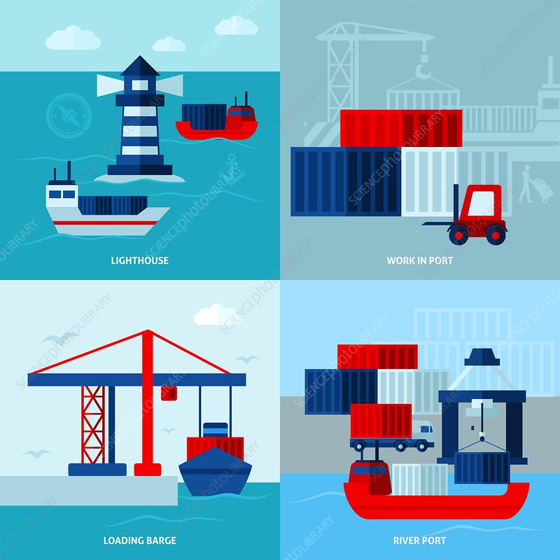 Shipping, illustration