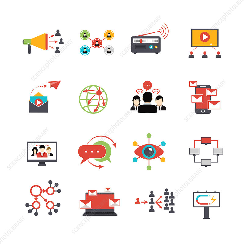Viral marketing icons, illustration
